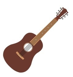 Acoustic guitar flat icon vector