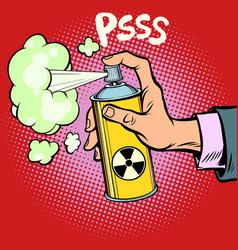 Attack diversion radioactive waste gas vector