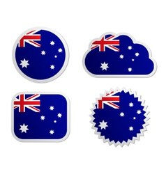 Australia flag labels vector image vector image