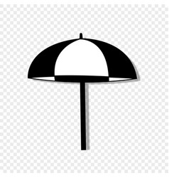 beach striped umbrella side view icon isolated vector image