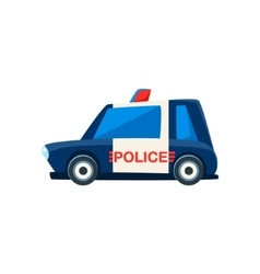 Black And White Police Toy Cute Car Icon vector