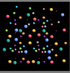 black background with colorful bubbles vector image
