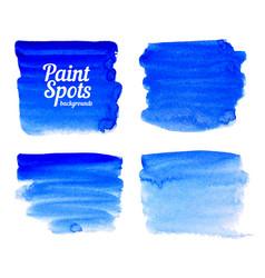 Blue paint spot banners set vector