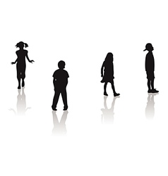 boy girl silhouettes vector image