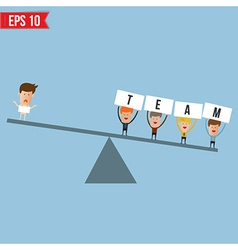 Business man teamwork spirit - - eps10 vector