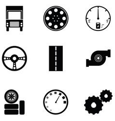 car driver icon set vector image