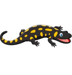 cartoon happy salamander vector image