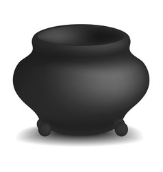 Cauldron pot mockup realistic style vector