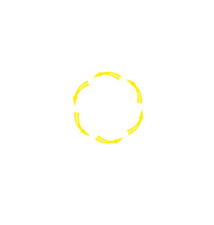 Circle recycle logo designs inspiration isolated vector