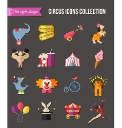 Circus entertainment icons set for infographics vector