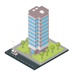 City building isometric vector
