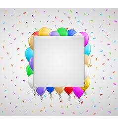 Color balloons and confetti vector