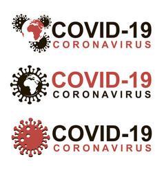 coronavirus warning sign set vector image
