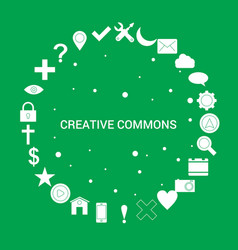 Creative commons icon set infographic template vector