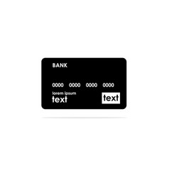 credit cards icon concept for vector image
