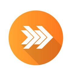 Double arrows flat design long shadow glyph icon vector