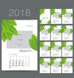 Eco style calendar of 2016 vector