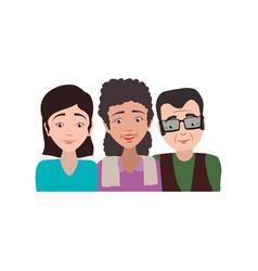 elder parents and daughter vector image