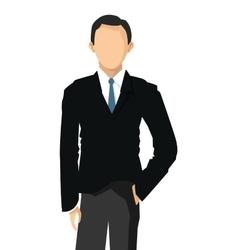 Faceless businessman icon vector