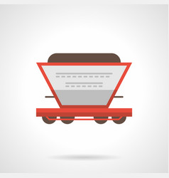 fertilizer railroad car flat icon vector image