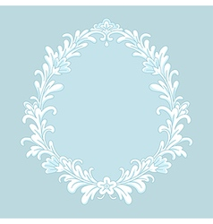 Floral baroque ice vector