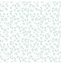 Floral pattern with sprigs vector