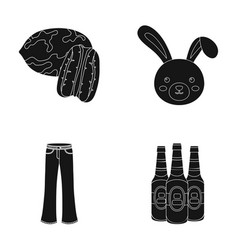 Food clothing and other web icon in black style vector