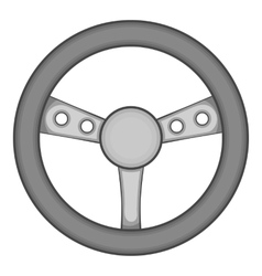 Gaming steering wheel icon black monochrome style vector