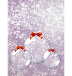 Glass Christmas Balls vector
