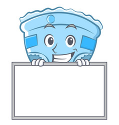 grinning with board baby diaper character cartoon vector image