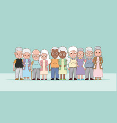 Group of grandparents cartoons vector