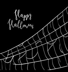 Happy halloween backdrop with creepy cobweb vector