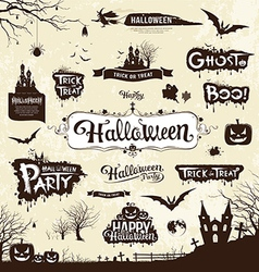 Happy Halloween day silhouette collections vector