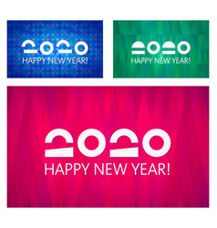 happy new year 2020 collection banner vector image