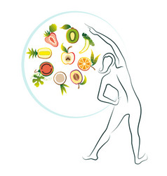 healthy diet for a pregnant woman what to eat vector image