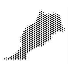 Hexagonal morocco map vector