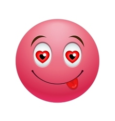 In love emoticon vector