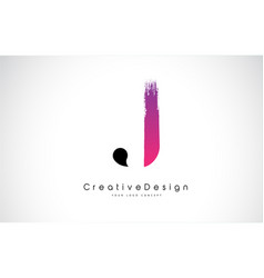 J letter logo design with creative pink purple vector