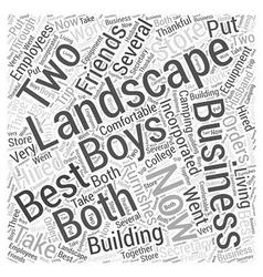 Landscape business Word Cloud Concept vector