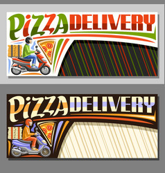 layouts for pizza delivery vector image