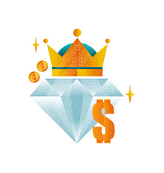 logo design template for royal casino with big vector image