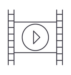 movie line icon sign on vector image