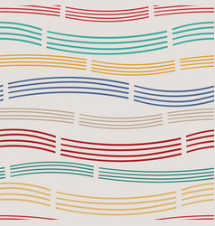multicolored wavy striped seamless pattern vector image