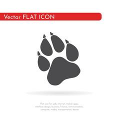 Paw prints logo vector