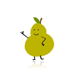 pear funny character for your design vector image