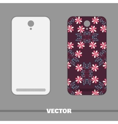 Phone Cover Doodle Flowers vector