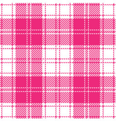 Pink and white tartan plaid seamless pattern vector