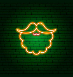 red beard neon sign vector image