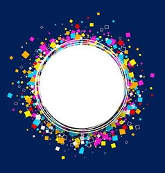 Round background with colour squares vector