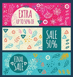 Sale banner hand drawn vector image